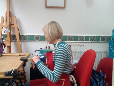 Doing some piercing in my studio!